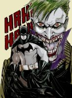 batman and joker by scarecrowhassan