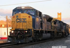 CSX SD80MAC # 4593 leads X757 power move in IL by EternalFlame1891