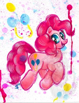 Pinkie Pie Watercolor G4 by BarbedDragon