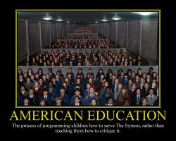 American Education Motivational Poster by DaVinci41