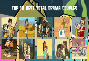Top 10 Total Drama Couples by stephanojames