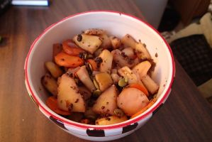 carrot, apple, and turnip hash browns by MotherLilith