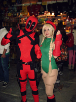 Cammy and Deadpool! Cosplay.My by AsakuraYumiChan