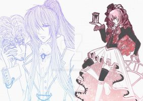Colored Vocaloid Steampunk Luca and Gakupo Kamui by RMTG