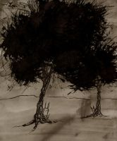 Ink trees with creeps by Nikama
