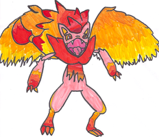 Fire Winged Zoroark Adoptable by DragoniteMessenger
