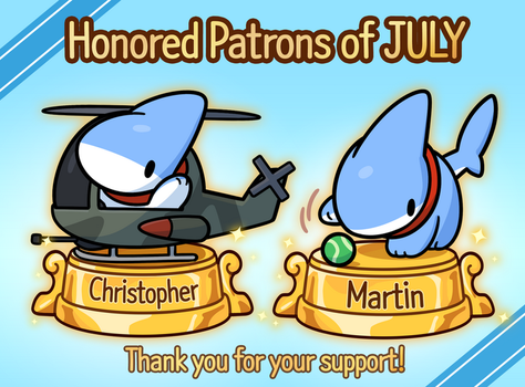 Honored Patrons of JULY! by 0Vress0