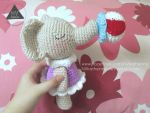 Girl Elephant With Her Toy by NVkatherine