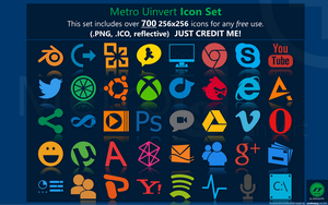 Metro Uinvert Dock Icon Set - 725 Icons by dAKirby309