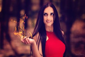 Woman in Flames by DenisaKc