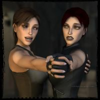 Lara and Doppel: Teaching The Beauty Of Dancing by Irishhips