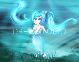 Chibi Mermaid by Drewstudio