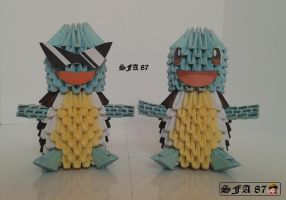 Squirtles Origami 3d by Sfa87