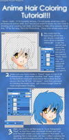 Anime Hair Coloring Tutorial by lampjelly