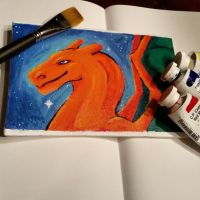 Charizard painting for sale by SpookyBjorn