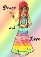 Peace and Love by Akyra93