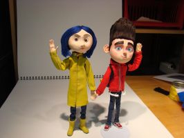 Norman and Coraline by Kristheblade