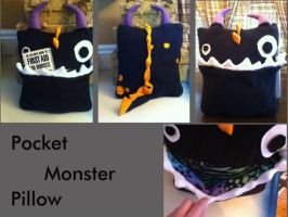 Ooge The Monster Pillow by ScArReDaRt4
