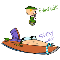 TUGS: Stray Cat and Evinrude by ZootyCutie
