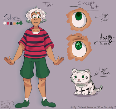 Character Sheet - Tim by CutieWinterSnow