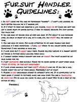 A Basic Guide to Fursuiting/Being a Handler by PeaceWolfCreations