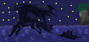 Flight of the Nightfury - HTTYD by starscreamfan10100