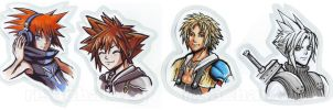 Squeenix: Hero portraits by Risachantag