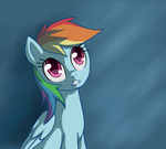 Pensive Rainbow Dash by Birchflame23
