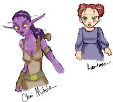 WoW Characters by calantia