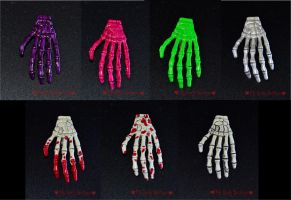 Skeleton Hands by TheLovelyBoutique