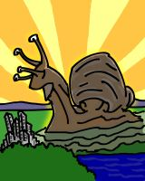 Rise of Snailzilla by quentinlars