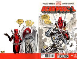 SKETCHCOVERS: Deadpool vs Cerberus by Shono