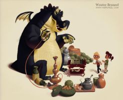 Picture Book Illo by WouterBruneel