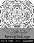 Coloring Book Page for Adults - February's Window by AngelaSasser