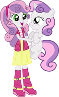 Sweetie Belle And Sweetie Belle by Vector-Brony