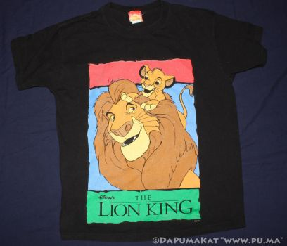 The Lion King - Mufasa and Cub Simba shirt - 1994 by dapumakat