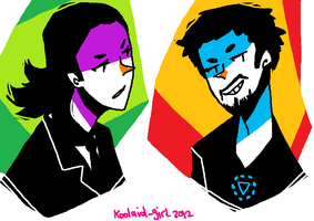avengers stylise: Loki and Stark by Koolaid-Girl