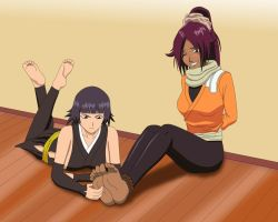 Soi Fon Tickling Yoruichi by no-pornography
