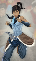 Korra Closeup - Legend of Korra by MeTaa