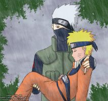 Kakashi and Naruto by zadak0