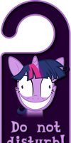 Crazy Twilight Sparkle Door Knob Hanger by Thorinair