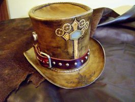 Steampunk Vampire Hunter Top hat by fletchstag
