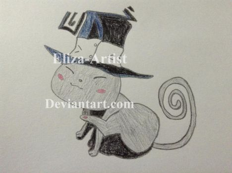 Blair the cat by Eliza-Artist