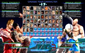 TekkenTag-3 Chars selection by khotebabu
