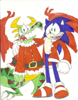 Sonic and Chilly X-mas by Weretoons101