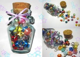 Ribbon Stars in Mini Jug by sweetcivic