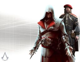 Ezio And Leonardo in Animus by retrieved-fiend