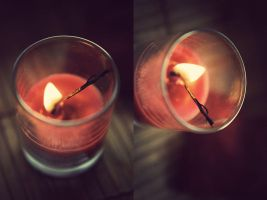 It is better to light a candle than curse the dark by BlueColoursOfNature