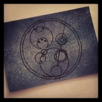 ACEO - 'Happy Pi Day!'--in Gallifreyan by strryeyedreamr27