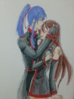 Rei and Kanda [requested] by RockokuShioya